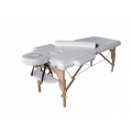 2 Section White Wooden Massage Table
